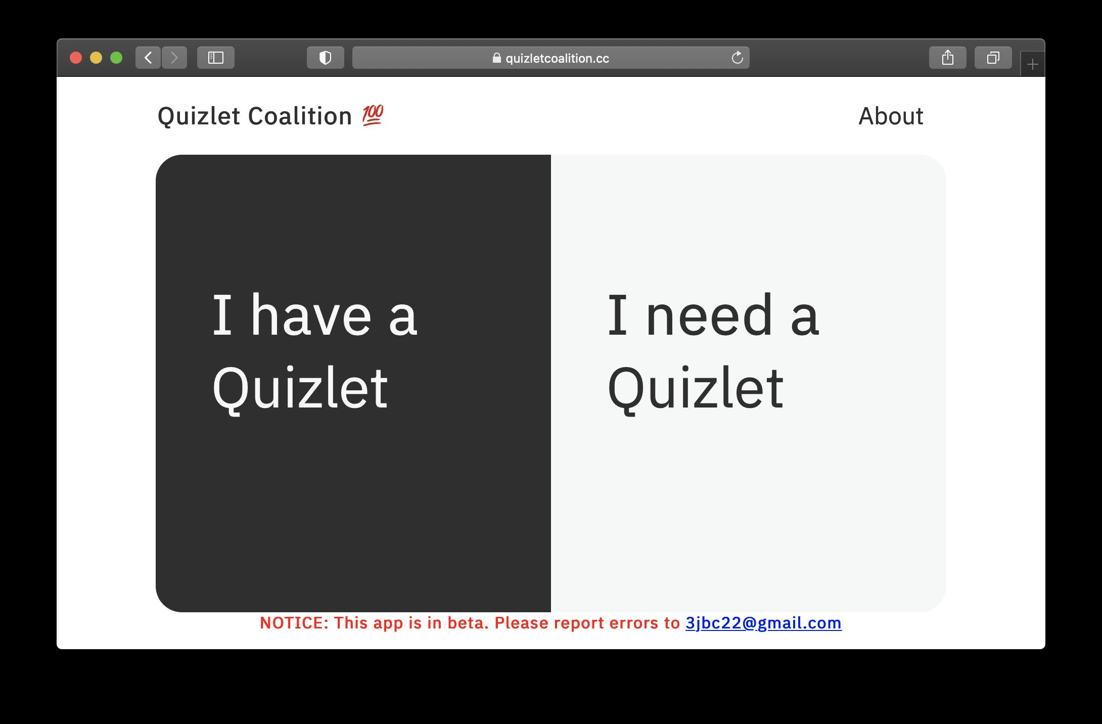 Quizlet Coalition Screenshot